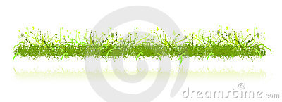 Decoration grass and nature ornaments