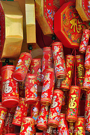 Decoration like firecracker in Chinese new year