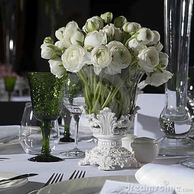Free Decoration Of Wedding Table Royalty Free Stock Photo - 16570535