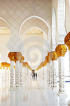 decoration of sheikh zayed grand mosque stock photos