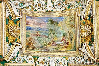 Decoration in Vatican museum Editorial Stock Photo