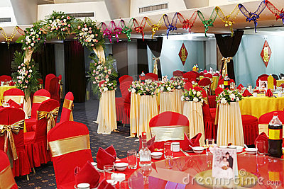 Decoration in wedding banquet