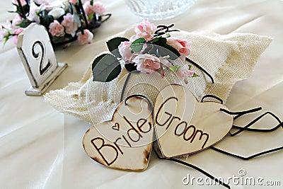 Decoration at wedding reception