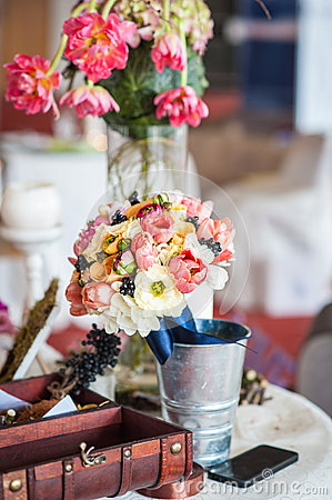 Floral arrangements and decorations for wedding