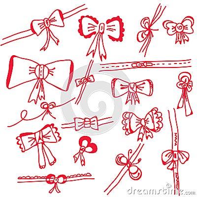 Decorational holidays bows set