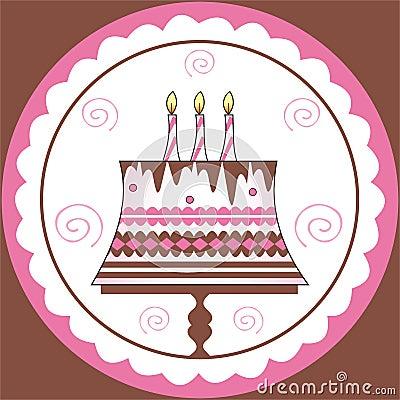 Decorations on birthday cake