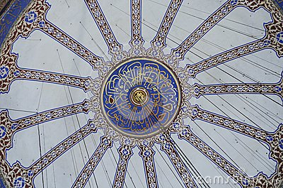 Decorations of the Blue Mosque dome, Istanbul
