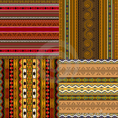 Decorative African patterns