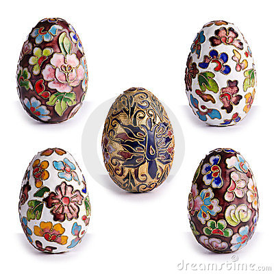 Decorative antique Easter eggs
