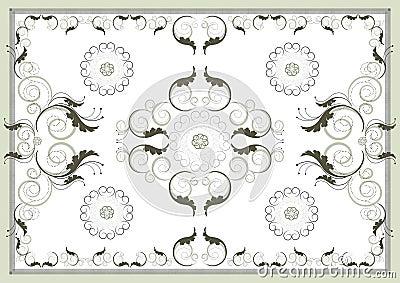 Decorative antique oriental pattern .Graphic arts.