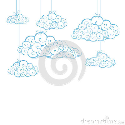 Decorative background with clouds