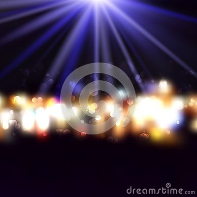 Free Decorative Background With Bokeh Lights And Starburst Stock Photos - 133027343