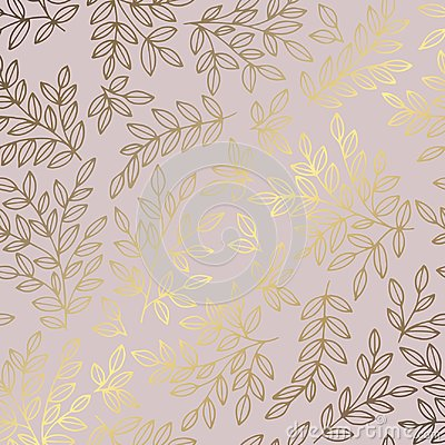 Free Decorative Background With Branches And Imitation Of Rose Gold Royalty Free Stock Photo - 121598535