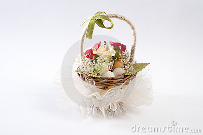 Decorative basket of flowers