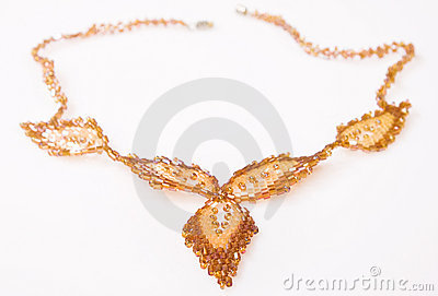 Decorative bead necklace
