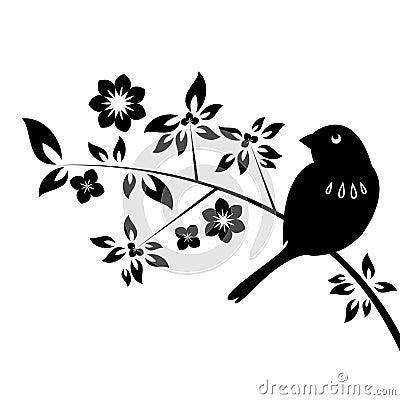 Decorative bird with leafs