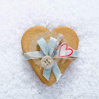 Decorative biscuit heart