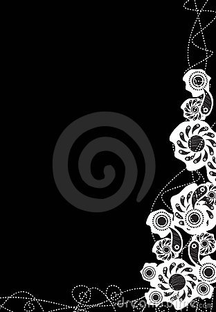 Decorative black background
