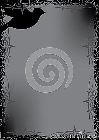 Decorative black dove