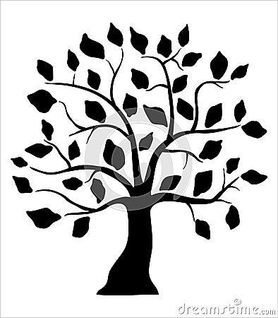 Decorative black tree
