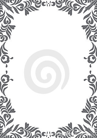 decorative black and white border royalty free stock
