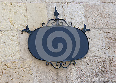 Decorative Blank Sign