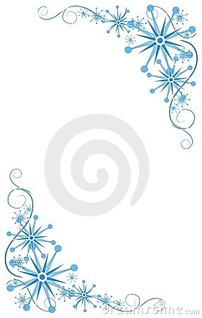 Decorative Blue Corners