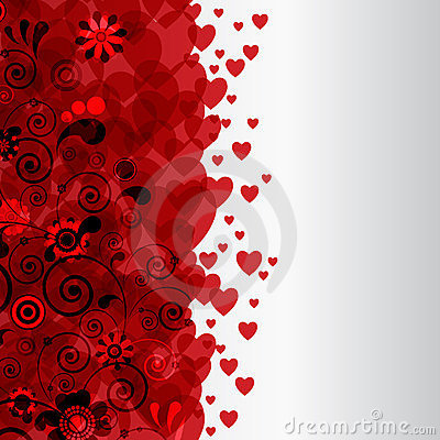 Decorative border with hearts.