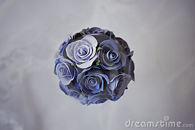 Decorative bouqet of blue roses