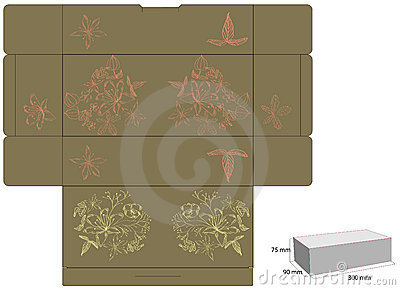 Decorative box with die cut (flowers)