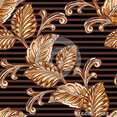 Free Decorative Bronze Floral Element Stock Photo - 79301540