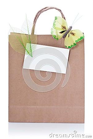 Decorative brown shopping bag