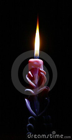 Free Decorative Burning Candle Royalty Free Stock Images - 21745599