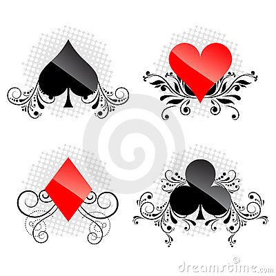 Decorative card symbols vector