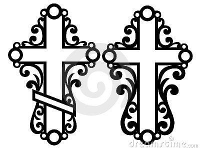 Decorative Celtic crosses
