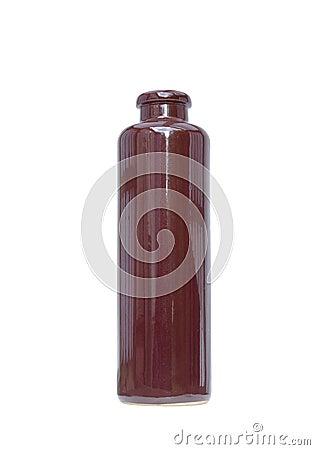 Decorative ceramic bottle isolated on white