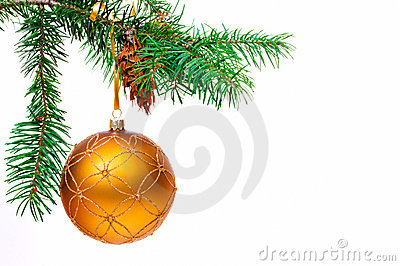 Decorative Christmas Ball On The Christmas Tree. Royalty Free Stock Photo - Image: 21569845