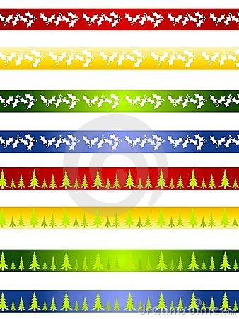 Decorative Christmas Borders or Dividers
