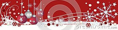 Decorative christmas header