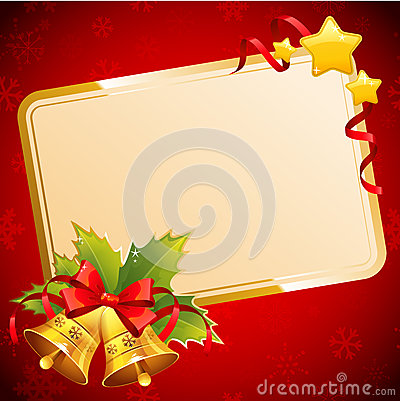 Free Decorative Christmas Invitation Postcard With Traditional Winter Stock Photo - 34492760