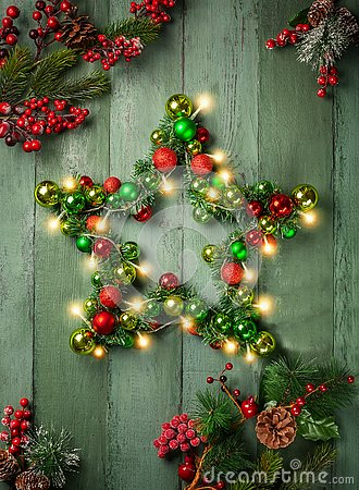 Free Decorative Christmas Star Stock Photography - 129361692