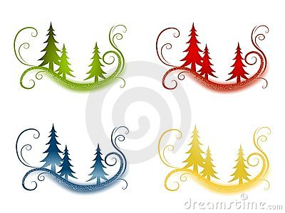 Decorative Christmas Tree Backgrounds
