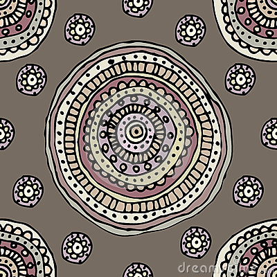 Decorative circles pattern