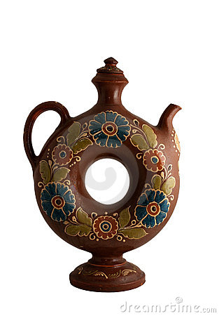 Decorative clay jug