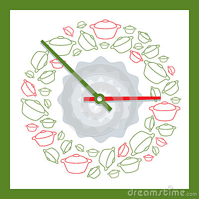 Decorative clock showing time to eat