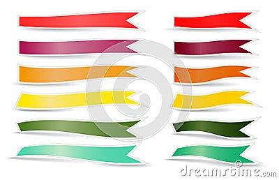 Decorative color ribbons