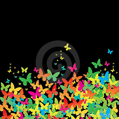 Decorative colorful butterfly.