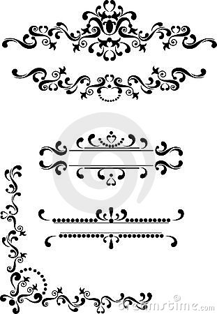 Decorative corner, border , frame.Graphic arts.