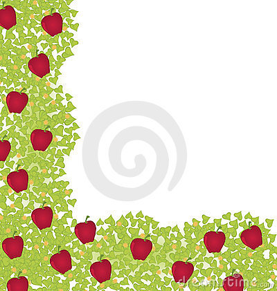 Decorative-corner-element-with-red-apples