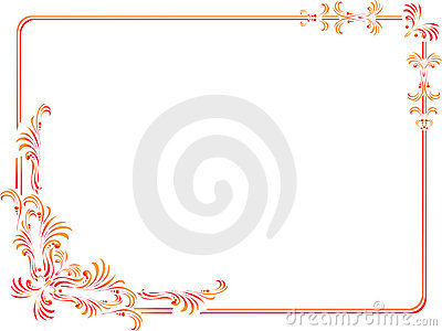decorative corners & border isolated